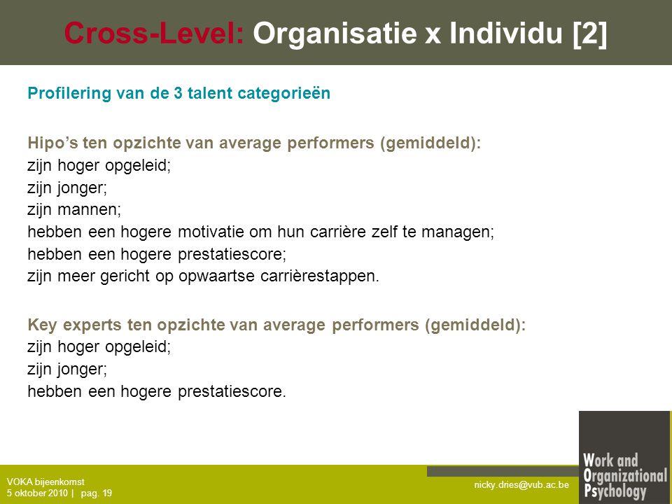 Cross-Level: Organisatie x Individu [2]